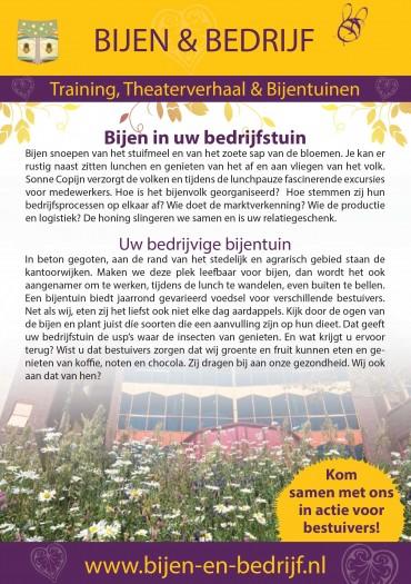 Flyer Bijen & Bedrijf zakelijk