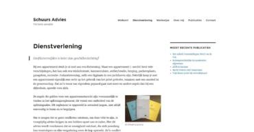 Pagina dienstverlening oude website