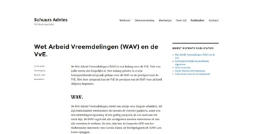 Pagina publicaties oude website